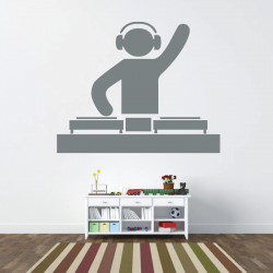 Sticker Mural Disc-Jockey
