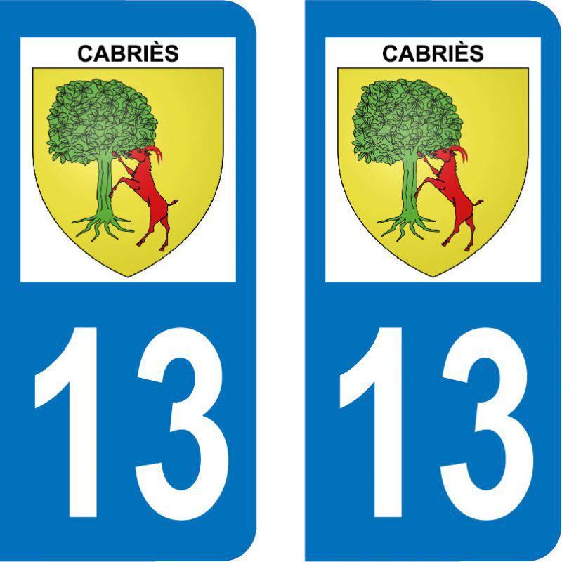 Autocollant Plaque Cabriès 13480