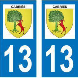 Sticker Plaque Cabriès 13480