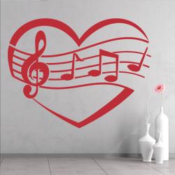 Sticker Mural Love Musique - 3