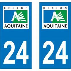 Autocollant Plaque 24 Dordogne