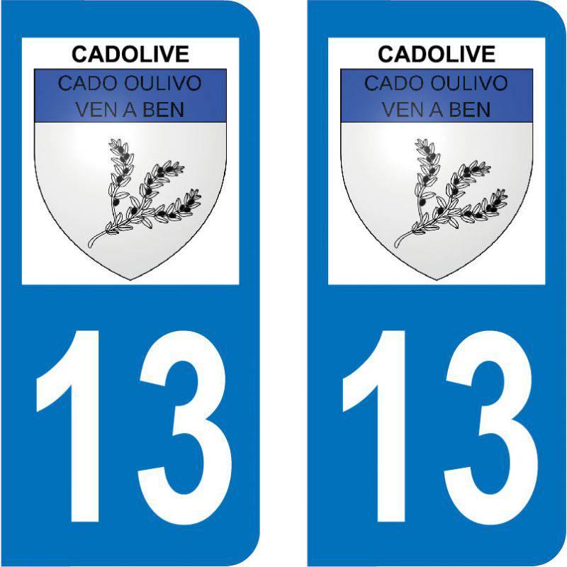Autocollant Plaque Cadolive 13950