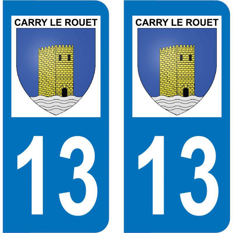 Autocollant Plaque Carry-le-Rouet 13620
