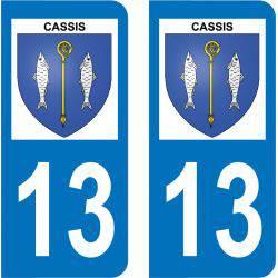 Autocollant Plaque Immatriculation Cassis