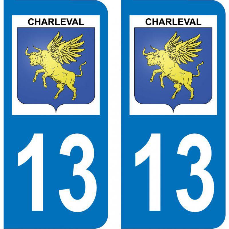 Autocollant Plaque Charleval 13350