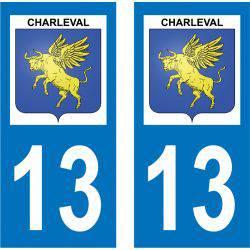 Sticker Plaque Charleval 13350