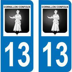 Autocollant  Plaque Cornillon-Confoux 13250