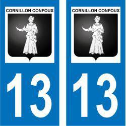 Sticker Plaque Cornillon-Confoux 13250