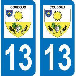 Autocollant Plaque Coudoux 13111