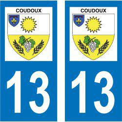 Sticker Plaque Coudoux 13111