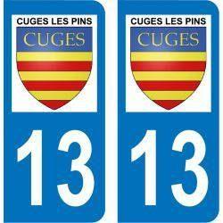 Autocollant Plaque Cuges-les-Pins 13780