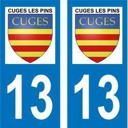 Sticker Plaque Cuges-les-Pins 13780