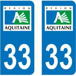 Sticker Plaque 33 Gironde