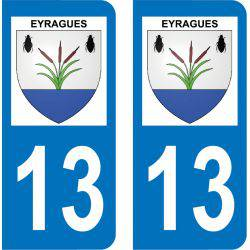 Autocollant Plaque Eyragues 13630
