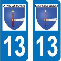 Autocollant Plaque La Fare-les-Oliviers 13580