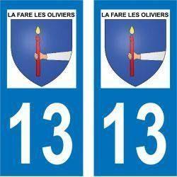 Sticker Plaque La Fare-les-Oliviers 13580