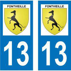 Sticker Plaque Fontvieille 13990