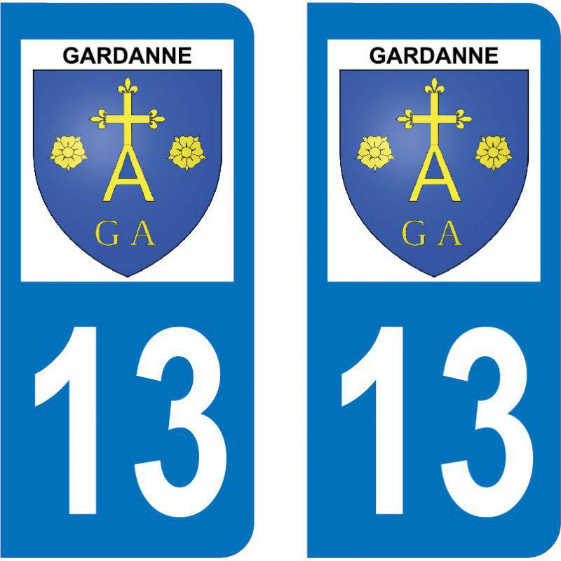 Autocollant Plaque Gardanne 13120