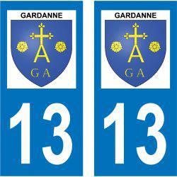 Sticker Plaque Gardanne 13120