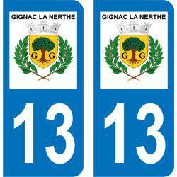 Autocollant Plaque Gignac-la-Nerthe 13180