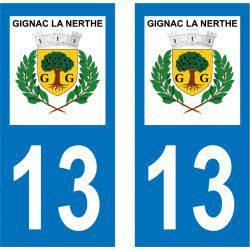Sticker Plaque Gignac-la-Nerthe 13180