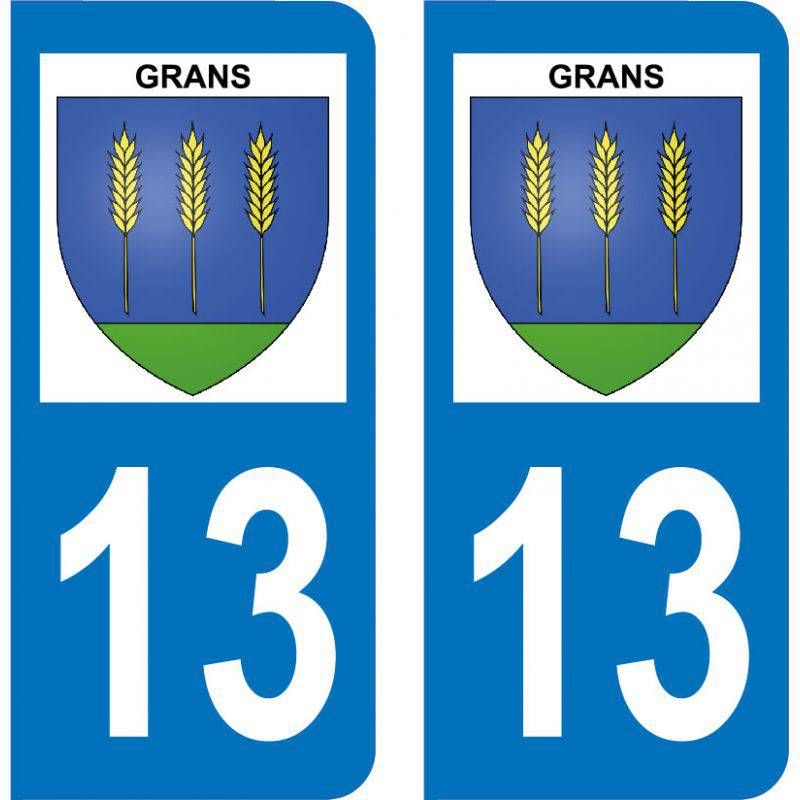 Autocollant Plaque Grans 13450