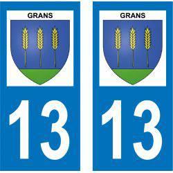 Sticker Plaque Grans 13450