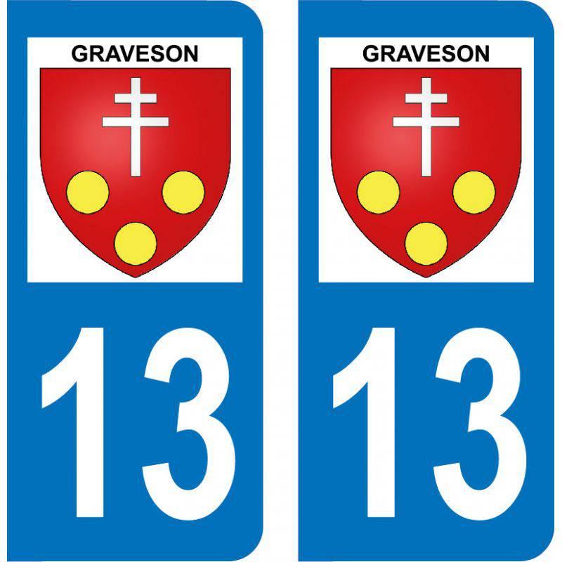 Autocollant Plaque Graveson 13690