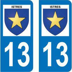 Autocollant Plaque Istres 13800