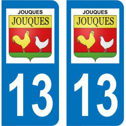 Autocollant Plaque Jouques 13490