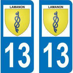 Autocollant Plaque Lamanon 13113