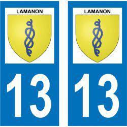 Sticker Plaque Lamanon 13113