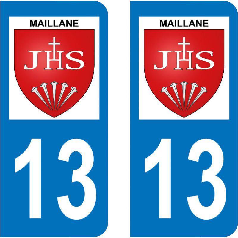 Autocollant Plaque Maillane 13910