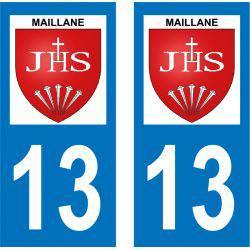 Sticker Plaque Maillane 13910