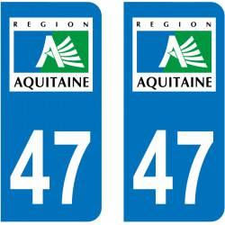 Sticker Plaque 47 Lot et Garonne