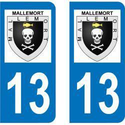 Autocollant Plaque Mallemort 13370