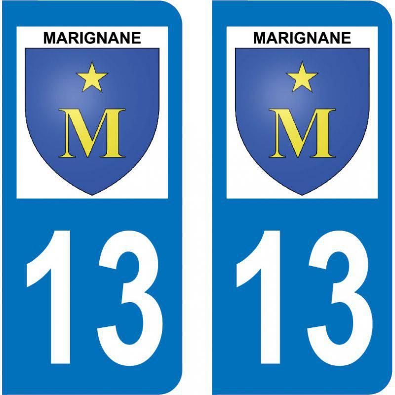 Autocollant Plaque Marignane 13700