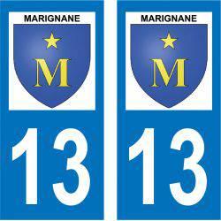 Sticker Plaque Marignane 13700