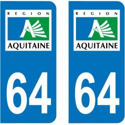 Sticker Plaque 64 Pyrénées Atlantiques