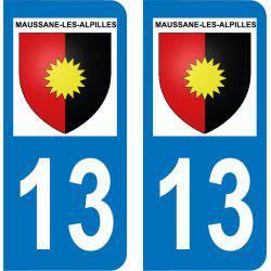 Autocollant  Plaque Maussane-les-Alpilles 13520