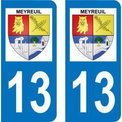 Autocollant Plaque Meyreuil 13590