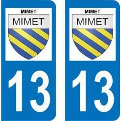 Autocollant Plaque Mimet 13105