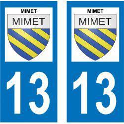 Sticker Plaque Mimet 13105