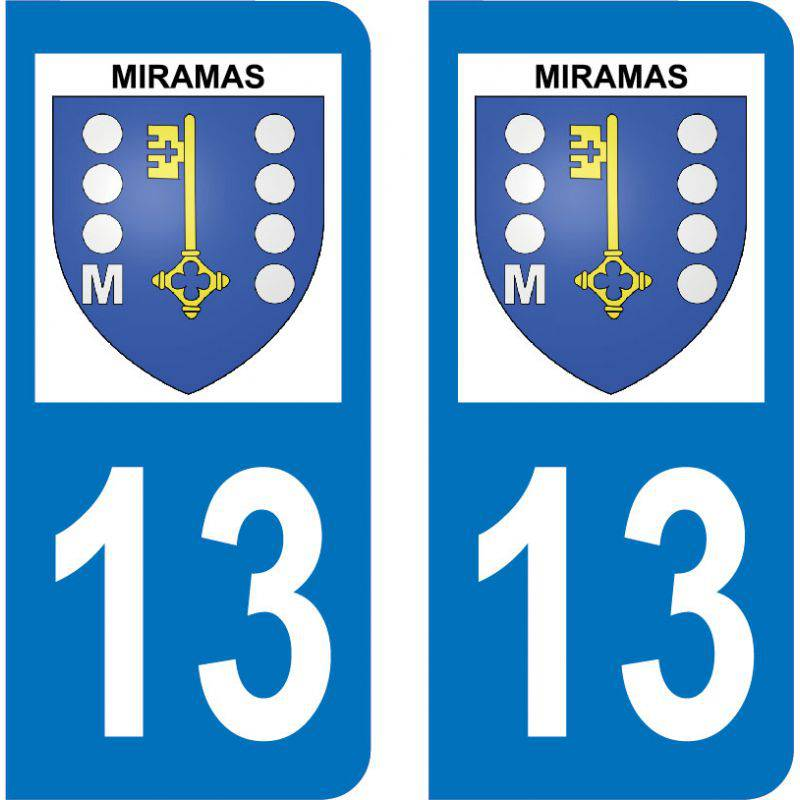 Autocollant Plaque Miramas 13140