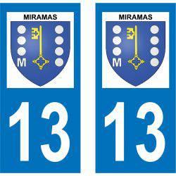 Sticker Plaque Miramas 13140