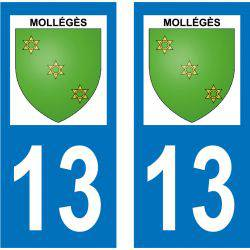 Sticker Plaque Mollégès 13940