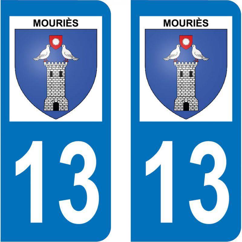 Autocollant Plaque Mouriès 13890