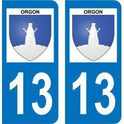 Autocollant Plaque Orgon 13660