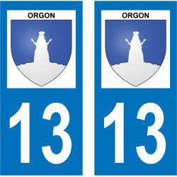Sticker Plaque Orgon 13660