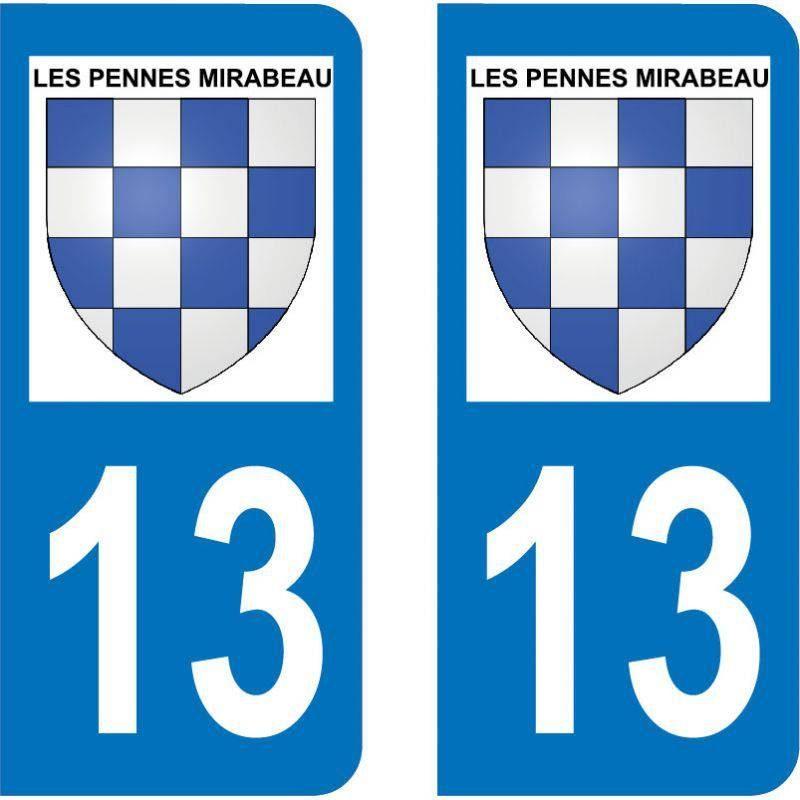 Autocollant Plaque Les Pennes-Mirabeau 13170